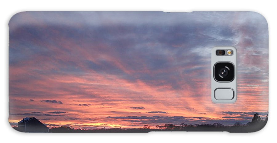Sunset Galaxy S8 Case featuring the photograph Island Barn Sunset by Robert Nickologianis