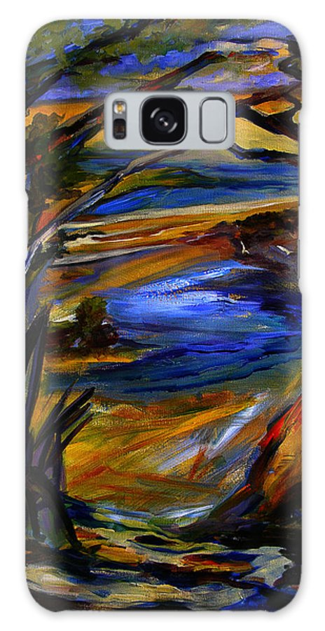 Art Galaxy S8 Case featuring the painting Island Waters St. Kitts by Julianne Felton
