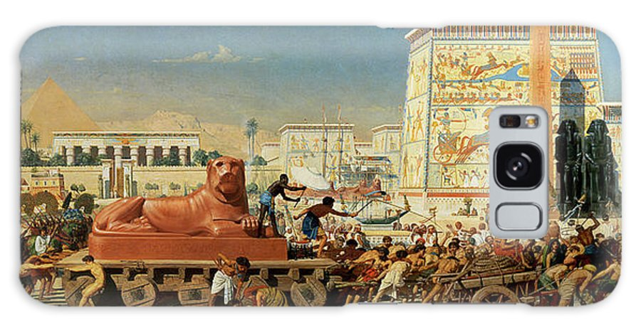 Lioness Galaxy S8 Case featuring the painting Israel In Egypt, 1867 by Sir Edward John Poynter