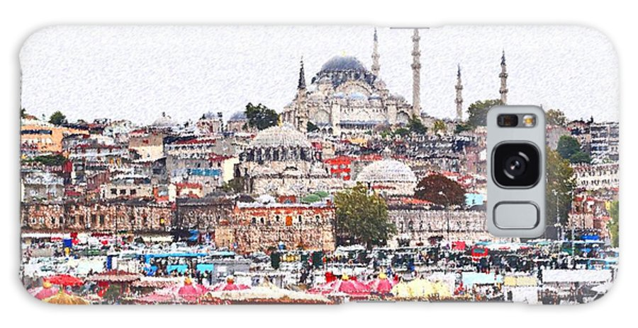 Istanbul Galaxy S8 Case featuring the digital art Istanbul by Dia Karanouh