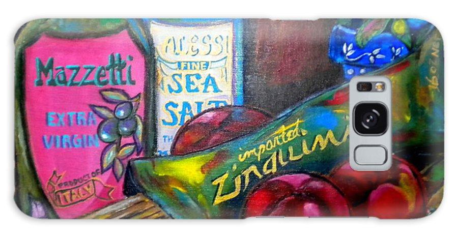 Italian Still Life Galaxy S8 Case featuring the painting Italian Still by Patti Schermerhorn
