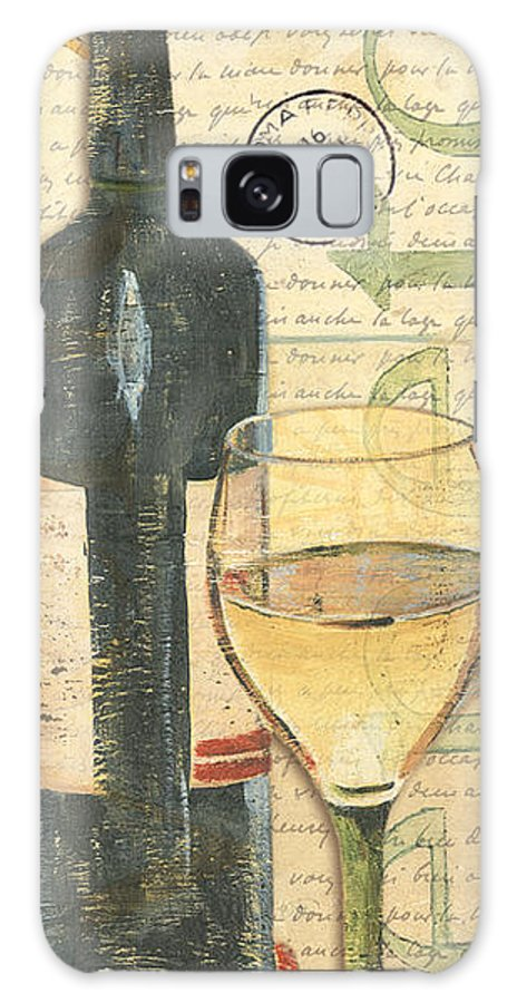 Wine Galaxy Case featuring the painting Italian Wine and Grapes 1 by Debbie DeWitt