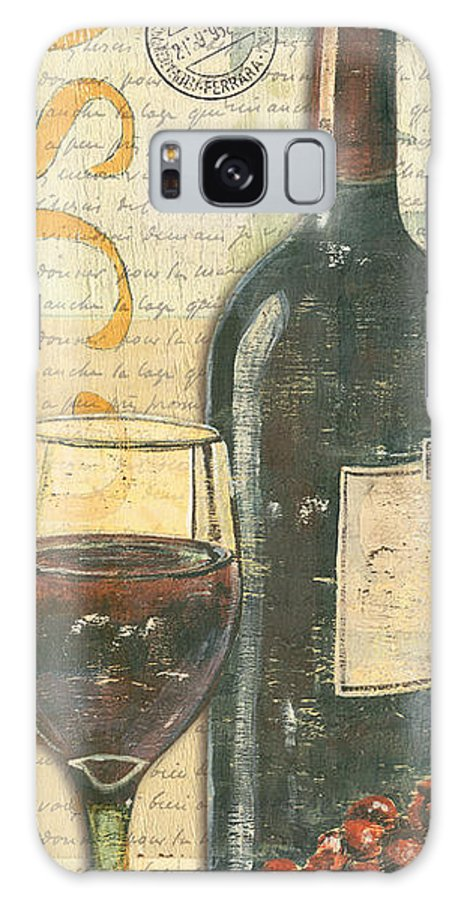 Wine Galaxy Case featuring the painting Italian Wine and Grapes by Debbie DeWitt
