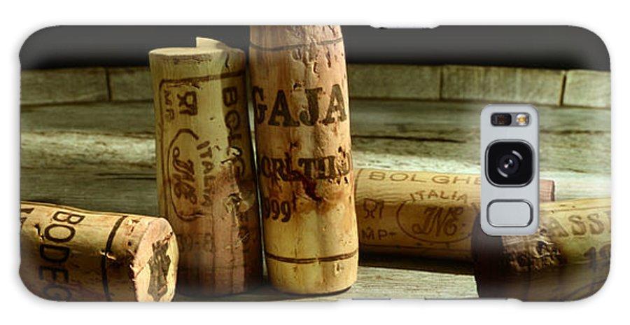 Italian Wine Galaxy S8 Case featuring the photograph Italian Wine Corks by Jon Neidert