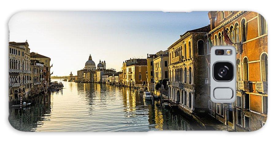 Blue Sky Galaxy S8 Case featuring the photograph Italy, Venice, Buildings Along Canal by Richard Desmarais