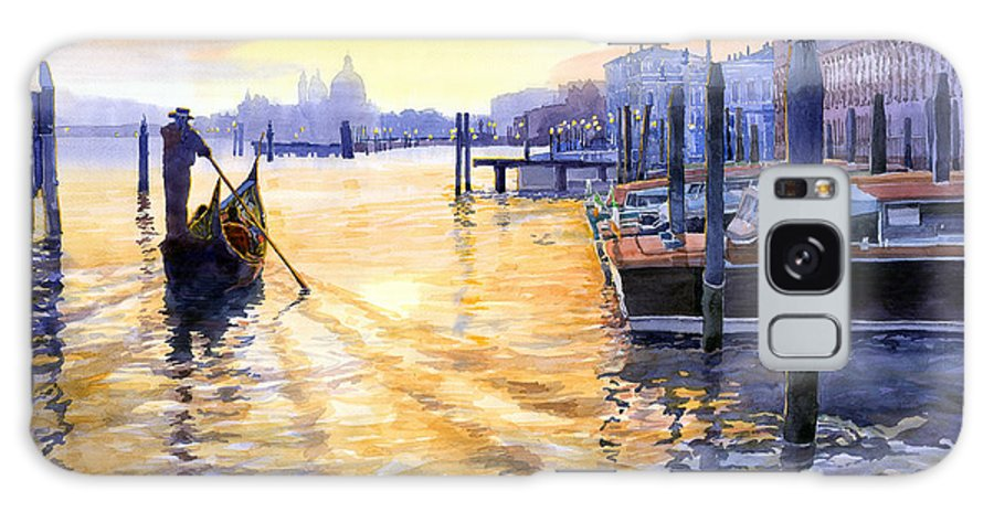 Watercolor Galaxy S8 Case featuring the painting Italy Venice Dawning by Yuriy Shevchuk