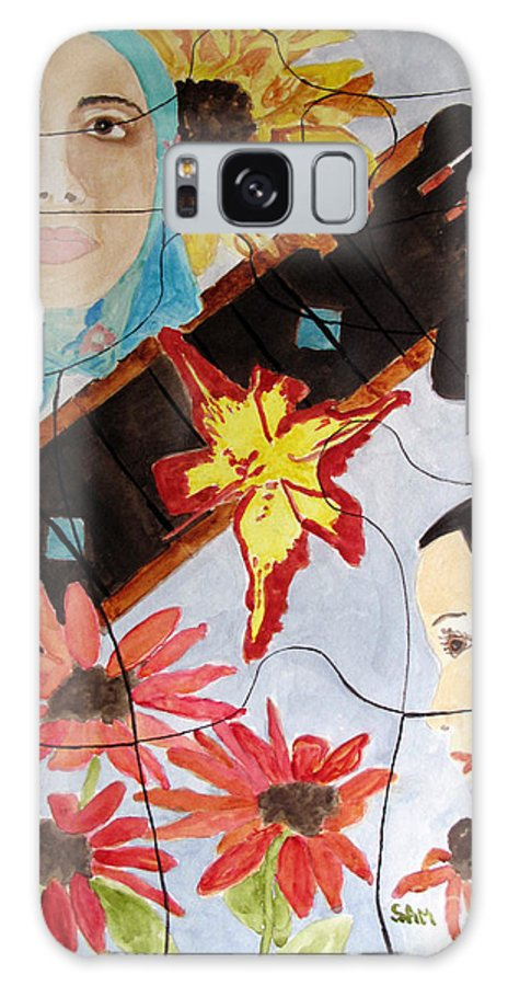 Puzzle Galaxy S8 Case featuring the painting It's A Puzzle by Sandy McIntire