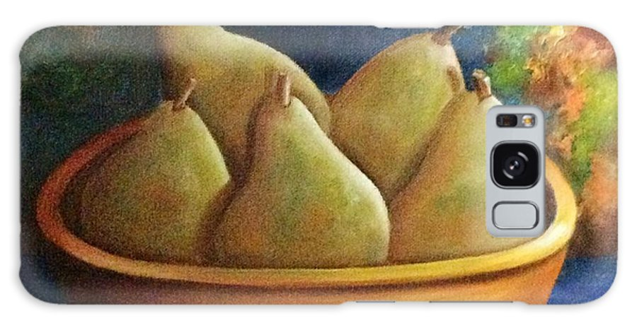 Still Life Galaxy Case featuring the painting It's All About Pears SOLD by Susan Dehlinger