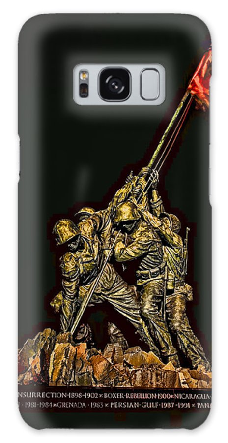 Determination Galaxy S8 Case featuring the photograph Iwo Jima Memorial by David Kay
