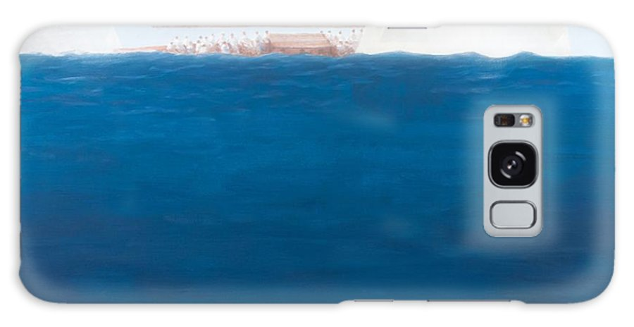 Yacht Galaxy S8 Case featuring the painting J Class Racing, The Solent by Lincoln Seligman