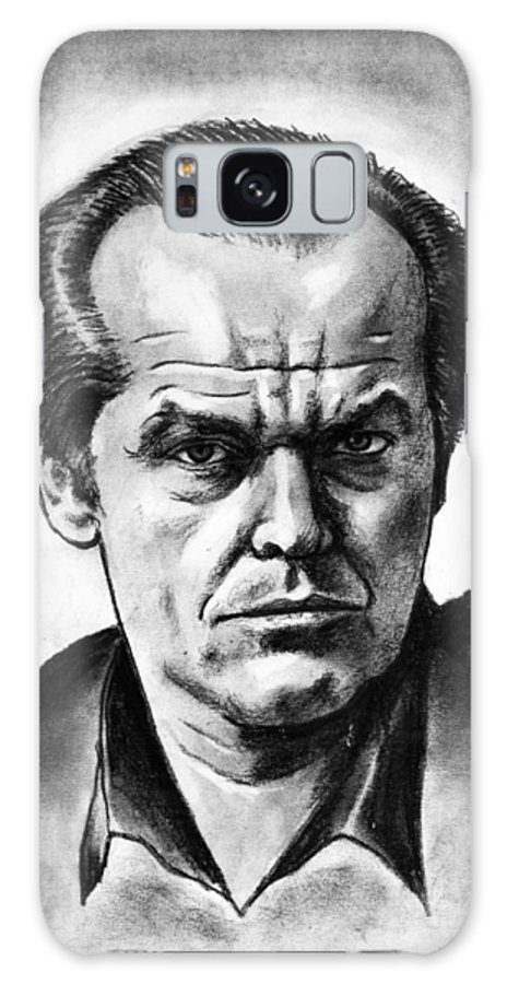 Wallpaper Buy Art Print Phone Case T-shirt Beautiful Duvet Case Pillow Tote Bags Shower Curtain Greeting Cards Mobile Phone Apple Android Drawing Jack Nicholson Sketch Stare Jack Torrence Sketch Drawing Batman Joker The Shining As Good As It Gets One Flew Over Cuckoo's Nest Charcoal Pencil Hollywood Movies Nuts Psycho Maniac Actor Star Expressionism Expression Salman Ravish Khan Actor Galaxy S8 Case featuring the drawing Jack Nicholson by Salman Ravish