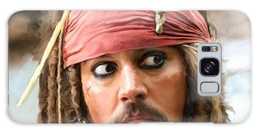 Depp Galaxy S8 Case featuring the painting Jack Sparrow by Paul Tagliamonte