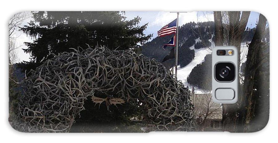 Jackson Hole Wyoming Galaxy S8 Case featuring the photograph Jackson Hole Wyoming Antler Arch by Tisha Clinkenbeard