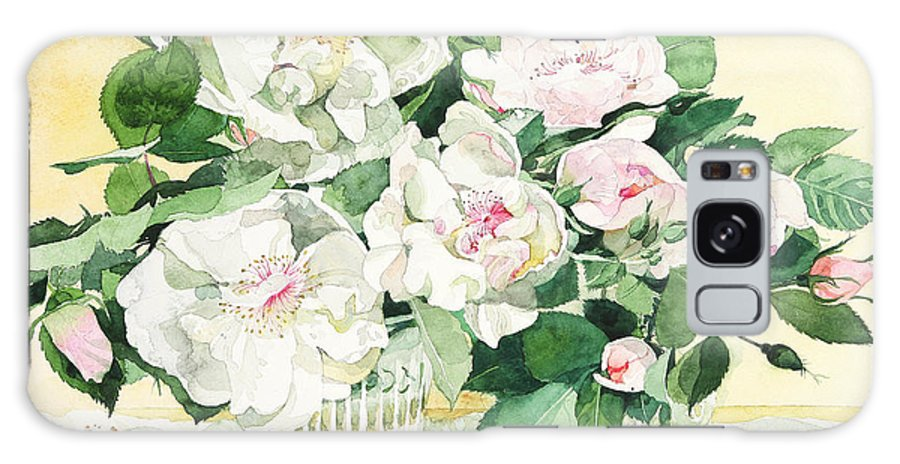 White Rose  Galaxy S8 Case featuring the painting Jacqueline Du Pre by Ayako Tsuge