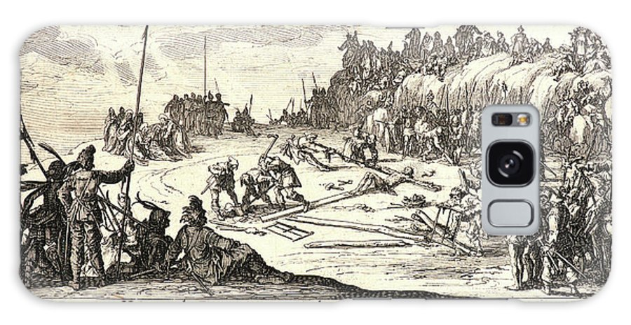 Jacques Callot Galaxy S8 Case featuring the drawing Jacques Callot French, 1592 - 1635. The Crucifixion Le by Litz Collection