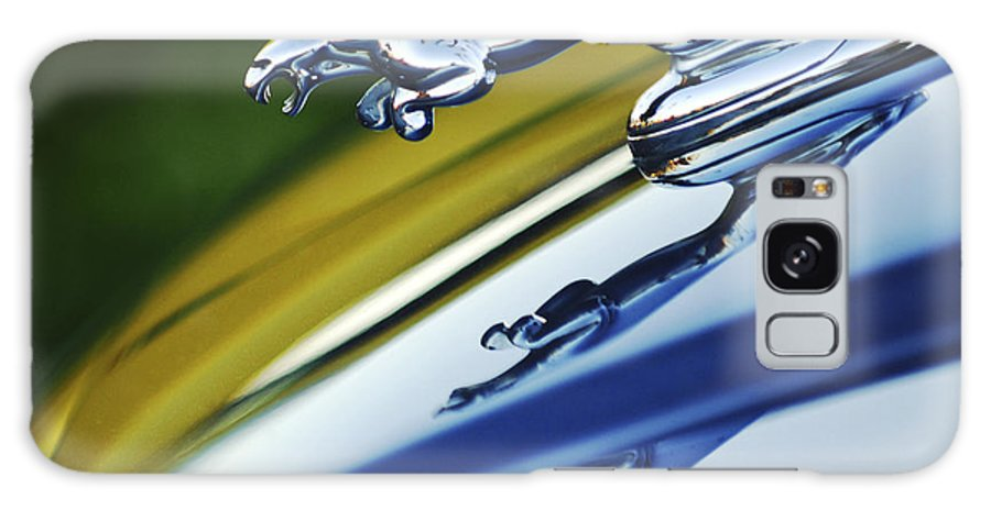 Car Galaxy S8 Case featuring the photograph Jaguar Car Hood Ornament by Jill Reger
