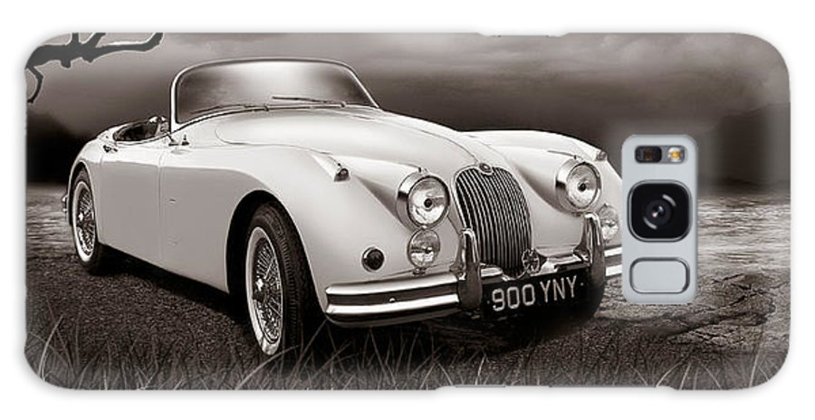 Jaguar Galaxy S8 Case featuring the digital art Jaguar Xk150 - Admiring The View by Linton Hart