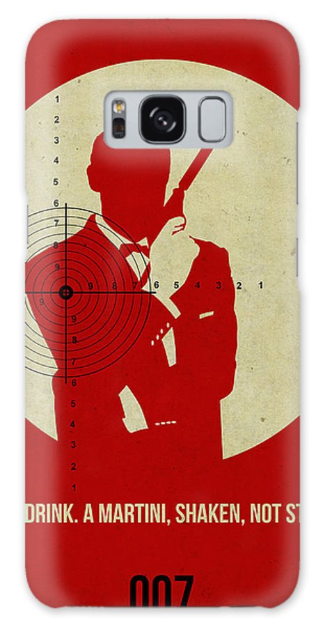 James Bond Galaxy S8 Case featuring the photograph James Poster Red 4 by Naxart Studio