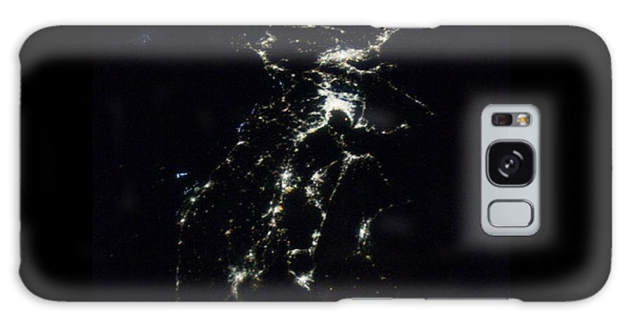 Japan Earth At Night Galaxy S8 Case featuring the photograph Japan At Night by Ahp