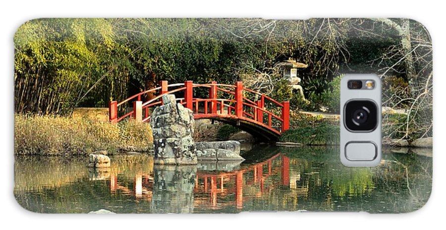 Japanese Bridge Over Water Galaxy S8 Case featuring the photograph Japanese Bridge Over Water by Maria Urso