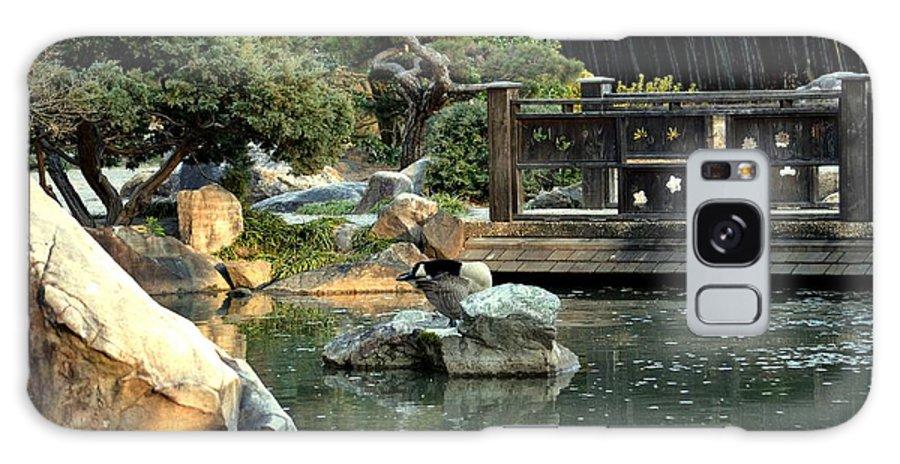 Japanese Garden At Sundown Galaxy S8 Case featuring the photograph Japanese Garden At Sundown by Maria Urso