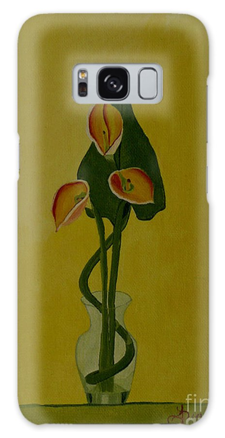 Japan Galaxy Case featuring the painting Japanese Ikebana Arrangement by Anthony Dunphy
