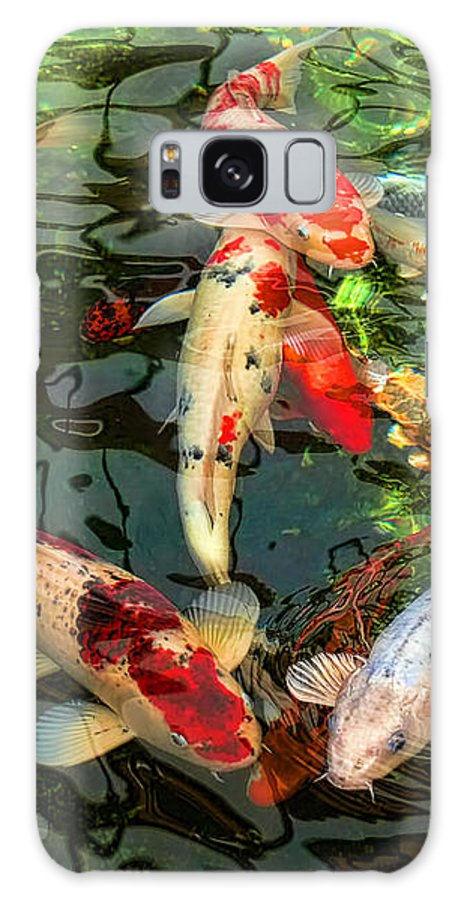 Koi Galaxy Case featuring the photograph Japanese Koi Fish Pond by Jennie Marie Schell