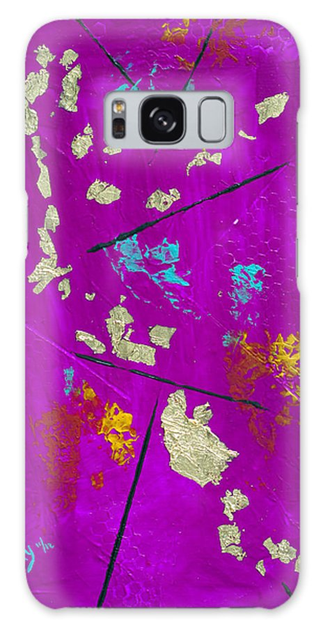 Japanese Galaxy S8 Case featuring the painting Japanese Tea Garden by Donna Blackhall