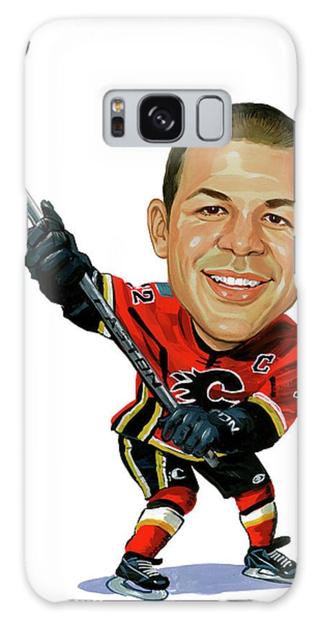 Jarome Iginla Galaxy S8 Case featuring the painting Jarome Iginla by Art