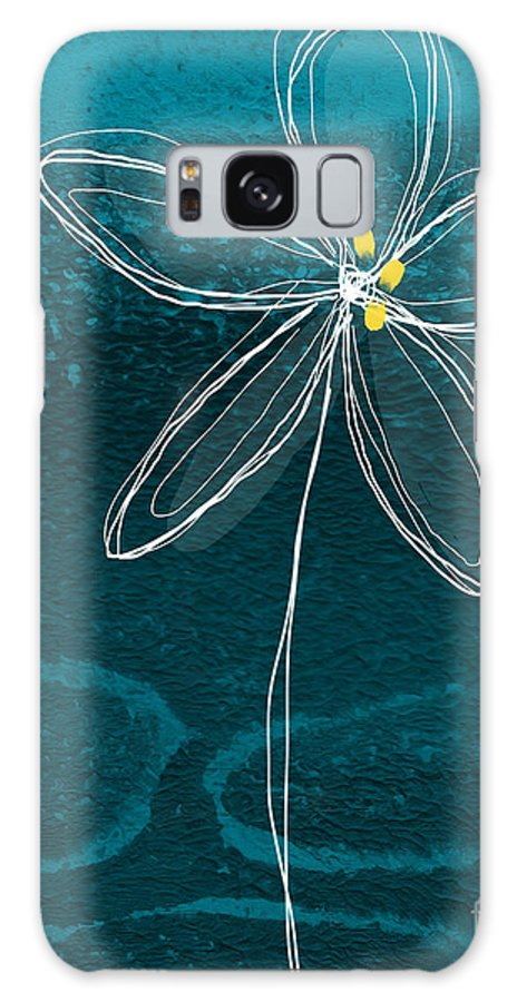 Abstract Galaxy Case featuring the painting Jasmine Flower by Linda Woods