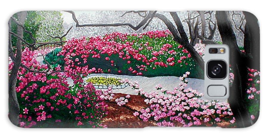 Jasmine Hill Gardens Galaxy S8 Case featuring the painting Jasmine Hill Gardens by Beth Parrish