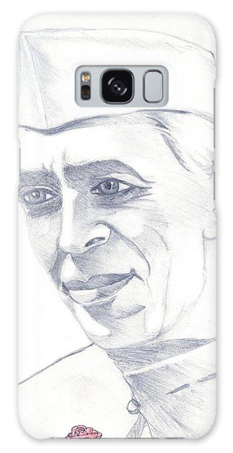 Jawaharl Lal Nehru Photos Galaxy Case featuring the painting Jawaharlal Nehru by Tanmay Singh