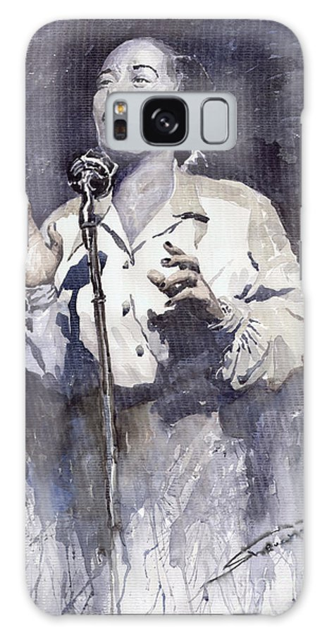 Billie Holiday Galaxy S8 Case featuring the painting Jazz Billie Holiday Lady Sings The Blues by Yuriy Shevchuk