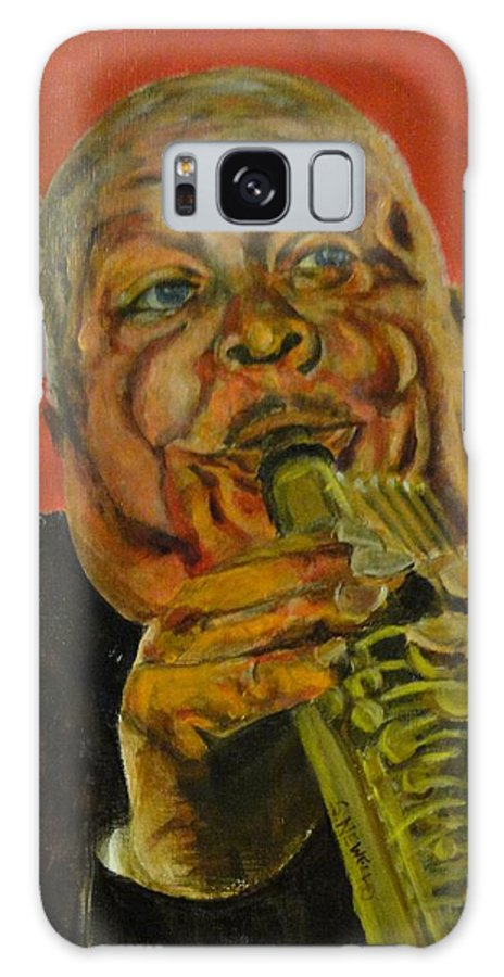 Jazz Player Galaxy S8 Case featuring the painting Jazz Player by Shaunna Newell