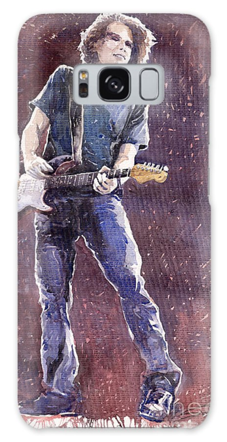 Jazz Galaxy S8 Case featuring the painting Jazz Rock John Mayer 01 by Yuriy Shevchuk