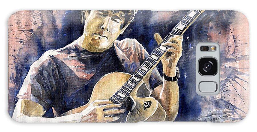 Gutarist Galaxy S8 Case featuring the painting Jazz Rock John Mayer 06 by Yuriy Shevchuk