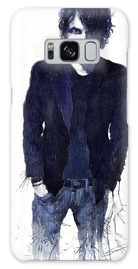 Jazz Galaxy S8 Case featuring the painting Jazz Rock John Mayer 07 by Yuriy Shevchuk
