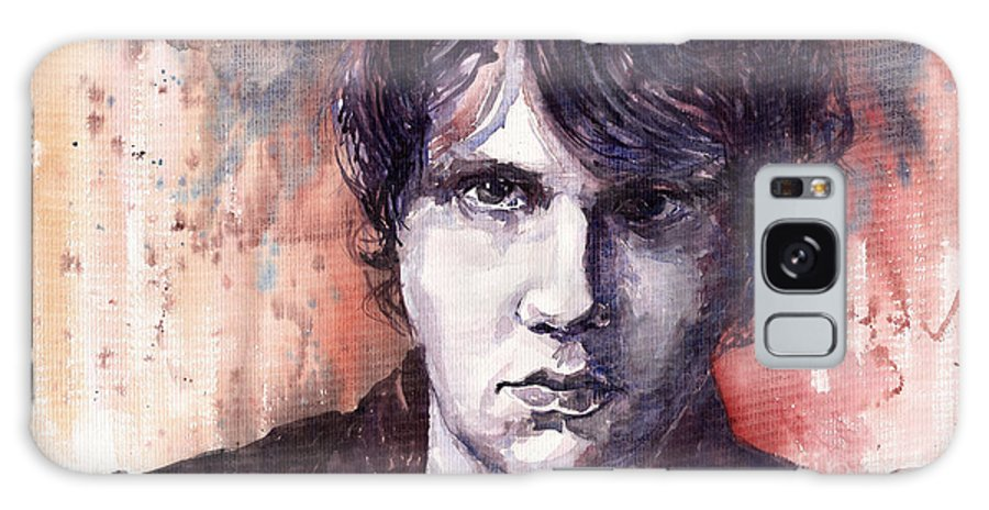 Jazz Galaxy S8 Case featuring the painting Jazz Rock John Mayer by Yuriy Shevchuk
