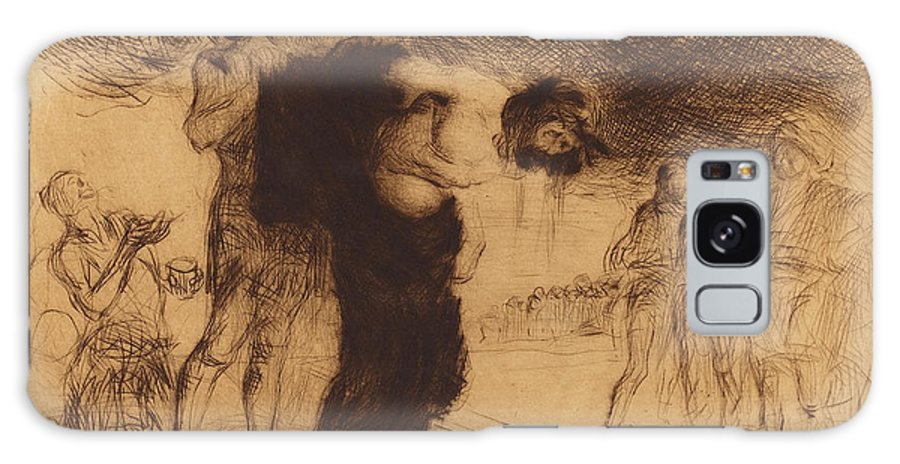 Jean-louis Galaxy S8 Case featuring the drawing Jean-louis Forain, Christ Stripped Of His Clothes by Quint Lox