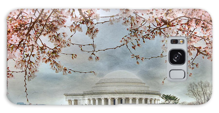 Jefferson Memorial Galaxy S8 Case featuring the photograph Jefferson Blossoms by Lori Deiter