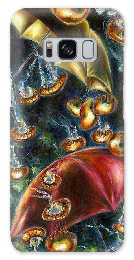 Jellyfish Galaxy S8 Case featuring the painting Jellyfishy Evening by Hiroko Sakai
