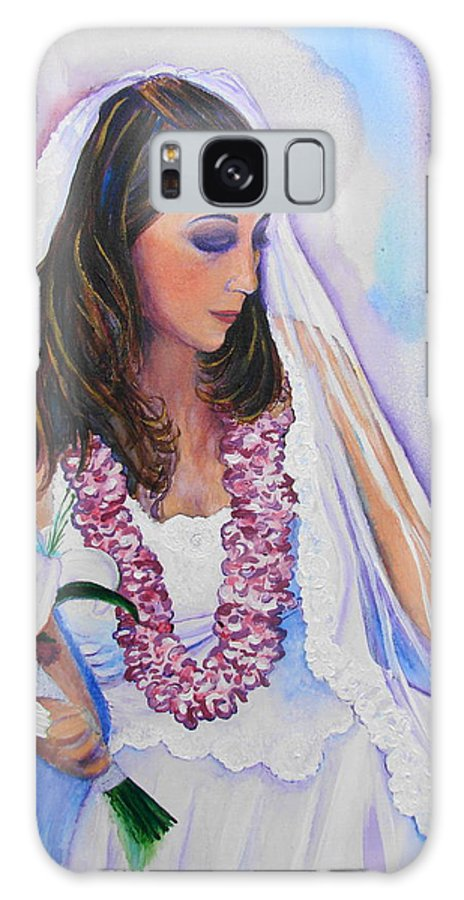 Bride Galaxy S8 Case featuring the painting Jenny by Margaret Bobb