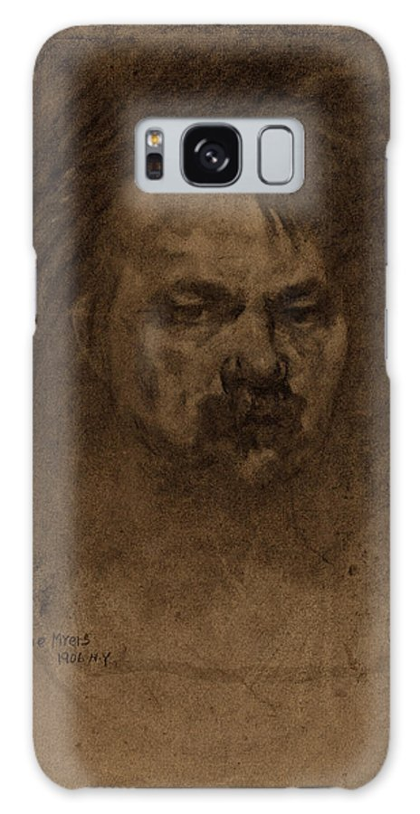 Jerome Galaxy S8 Case featuring the drawing Jerome Myers, Self-portrait, American, 1867 - 1940 by Quint Lox