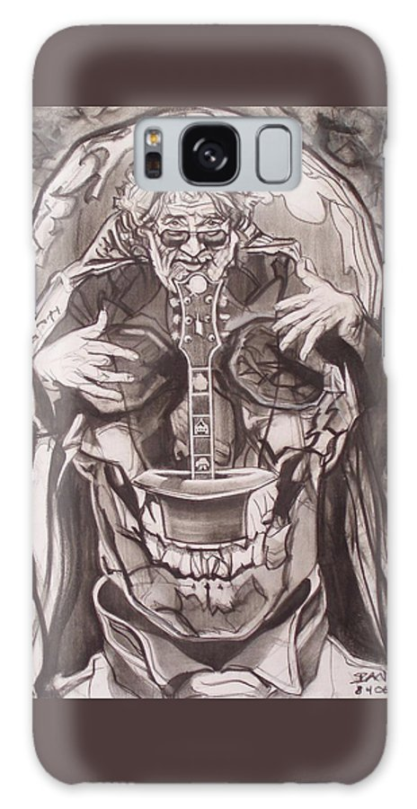 Charcoal Galaxy S8 Case featuring the drawing Jerry Garcia . . Magic Is What We Do - Music Is How We Do It by Sean Connolly