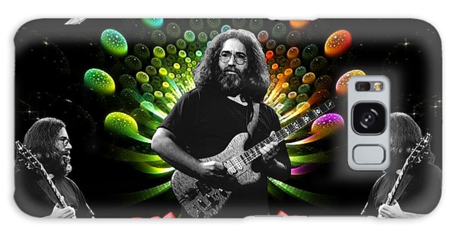 Jerry Garcia Galaxy S8 Case featuring the photograph Jerry Spacepods Triple Jerry Ufo Roses Under Cosmic Sun by Ben Upham
