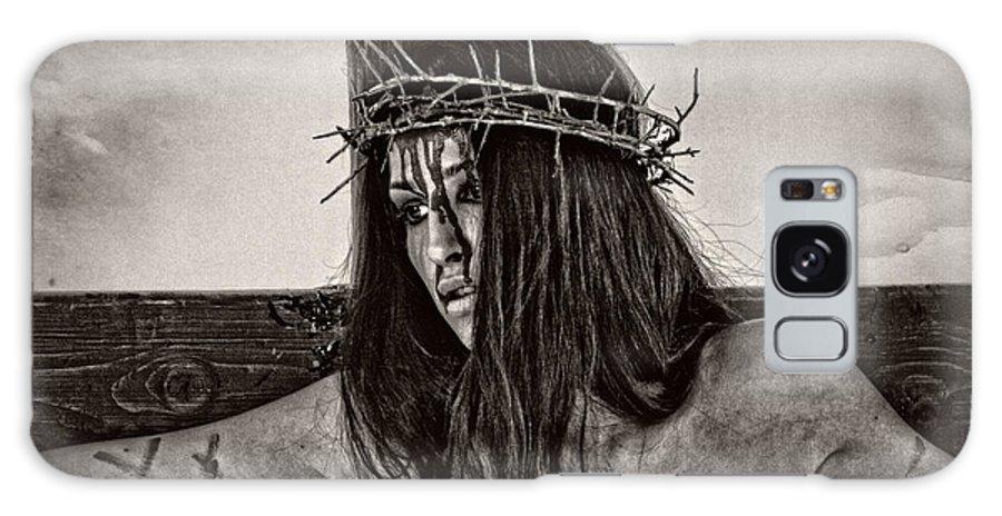 Jesus Galaxy S8 Case featuring the photograph Jesus Christ Portrait by Ramon Martinez