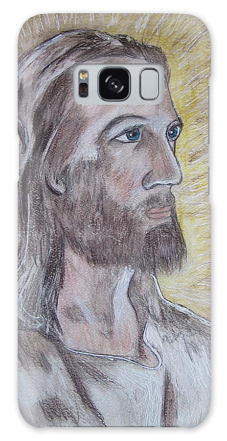 Jesus Galaxy S8 Case featuring the painting Jesus by Kathy Marrs Chandler