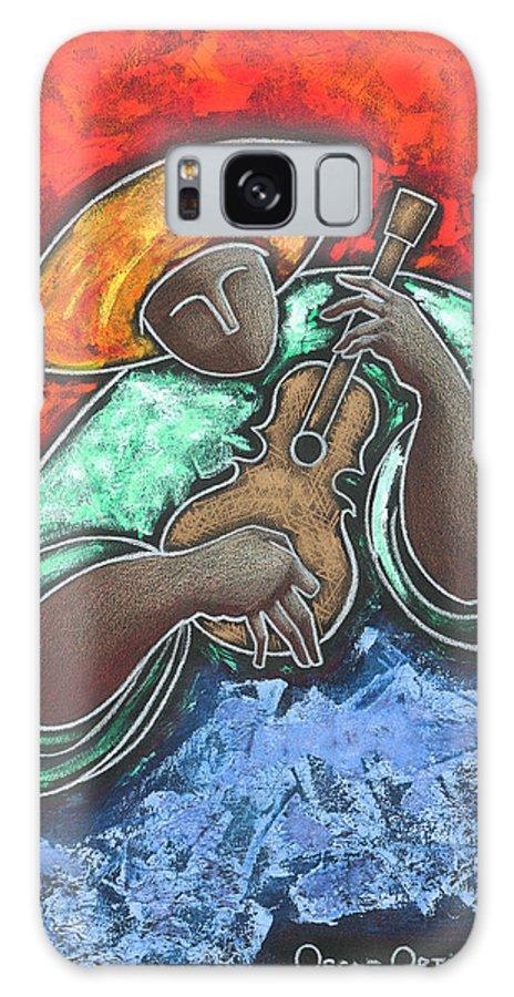 Puerto Rico Galaxy Case featuring the painting Jibaro Encendi'o by Oscar Ortiz