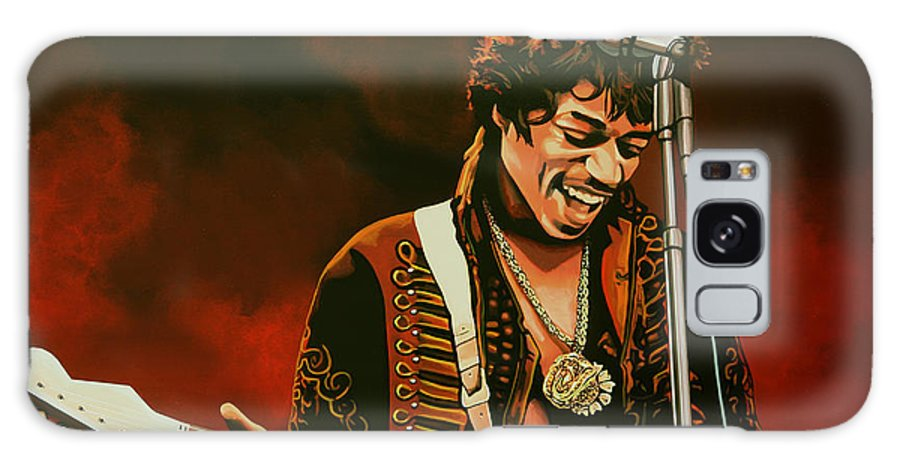 Jimi Hendrix Galaxy S8 Case featuring the painting Jimi Hendrix Painting by Paul Meijering