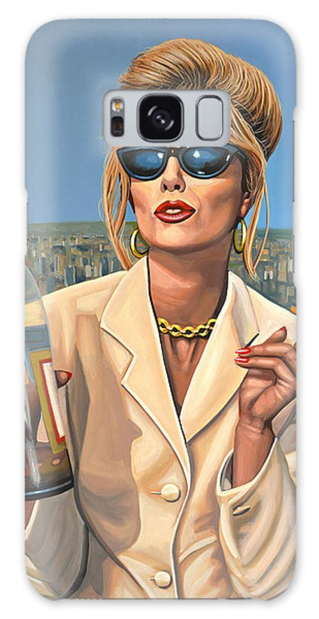 Joanna Lumley Galaxy S8 Case featuring the painting Joanna Lumley As Patsy Stone by Paul Meijering